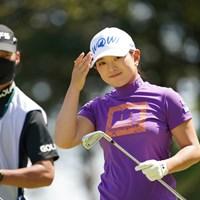 今日はおそろいのキャップなのだ 2021年 アクサレディスゴルフトーナメント in MIYAZAKI 初日 吉川桃