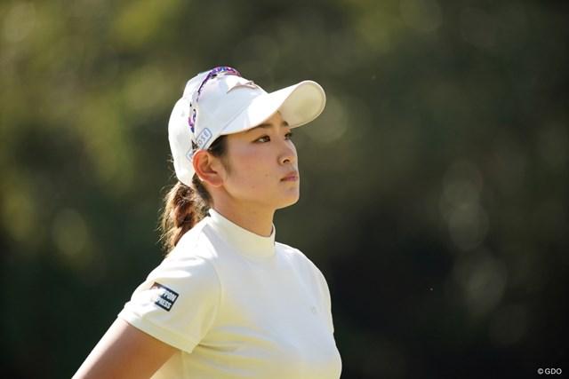 2021年 アクサレディスゴルフトーナメント in MIYAZAKI 初日 原英莉花 力強いプレーを見せた原英莉花