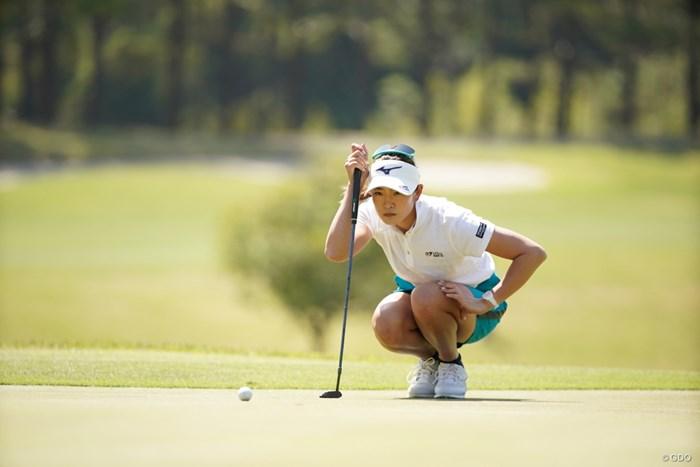 仕草がかっこいいよな 2021年 アクサレディスゴルフトーナメント in MIYAZAKI 2日目 原英莉花