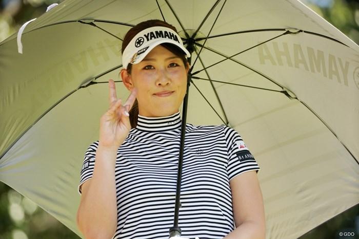 日傘の似合う美人ゴルファー 2021年 アクサレディスゴルフトーナメント in MIYAZAKI 2日目 福田真未