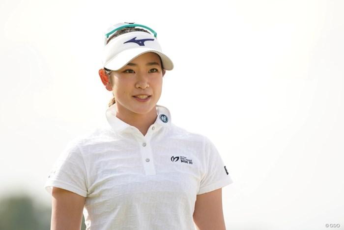 初日に続き2日目もアクセサリーをせずにプレー 2021年 アクサレディスゴルフトーナメント in MIYAZAKI  2日目 原英莉花