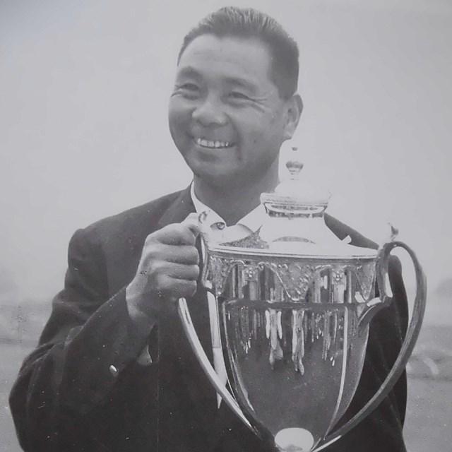 2021年 残したいゴルフ記録 林由郎 戦後初開催の公式戦1948年「関東プロ」で優勝した林由郎(武藤一彦氏提供)