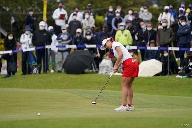 2021年 アクサレディスゴルフトーナメント in MIYAZAKI 最終日 河本結 「パットが入らなかった」と悔しがった河本結
