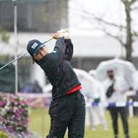 最終日はボギーなしのプレーだった岡山絵里 2021年 アクサレディスゴルフトーナメント in MIYAZAKI 最終日 岡山絵里
