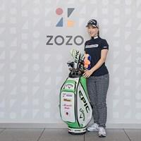 上田桃子が「ZOZO」と所属契約(提供:ZOZO) 2021年 上田桃子