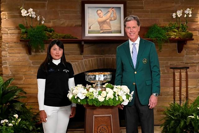2021年 オーガスタナショナル女子アマ 最終日 梶谷翼 ちょっと緊張気味?(提供:Augusta National Golf Club)