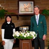 ちょっと緊張気味?(提供:Augusta National Golf Club) 2021年 オーガスタナショナル女子アマ 最終日 梶谷翼