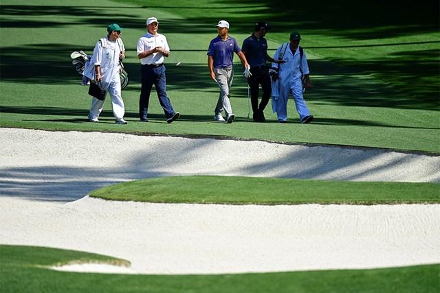 2021年 マスターズ 事前 フレッド・カプルス カプルスは5日、シャウフェレと練習ラウンド(提供:(提供:Augusta National Golf Club)