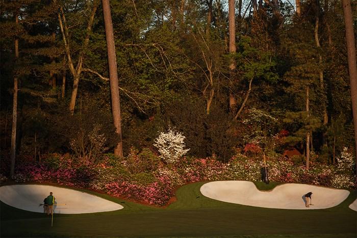 練習ラウンド初日の風景(提供:Augusta National Golf Club) 2021年 マスターズ 事前 オーガスタナショナルGC