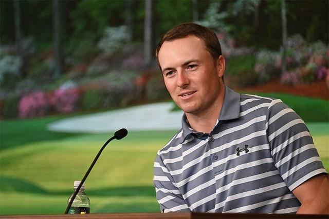 2021年 マスターズ 事前 ジョーダン・スピース 復活優勝を遂げてオーガスタ入りしたスピース。5日には会見に臨んだ(提供:Augusta National Golf Club)