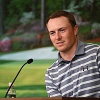 復活優勝を遂げてオーガスタ入りしたスピース。5日には会見に臨んだ(提供:Augusta National Golf Club) 2021年 マスターズ 事前 ジョーダン・スピース