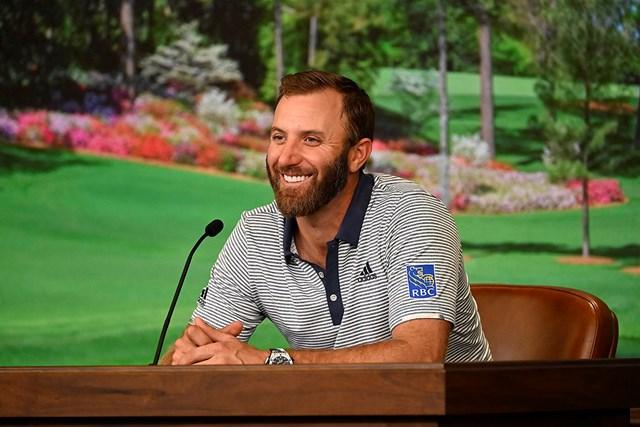 2021年 マスターズ 事前 ダスティン・ジョンソン 前年覇者として会見に臨むダスティン・ジョンソン(提供:Augusta National Golf Club)