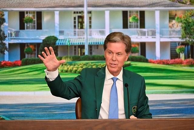2021年 マスターズ 事前 フレッド・リドリー 開幕前日に記者会見するフレッド・リドリー氏(提供:Augusta National Golf Club)