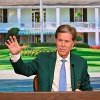 開幕前日に記者会見するフレッド・リドリー氏(提供:Augusta National Golf Club) 2021年 マスターズ 事前 フレッド・リドリー