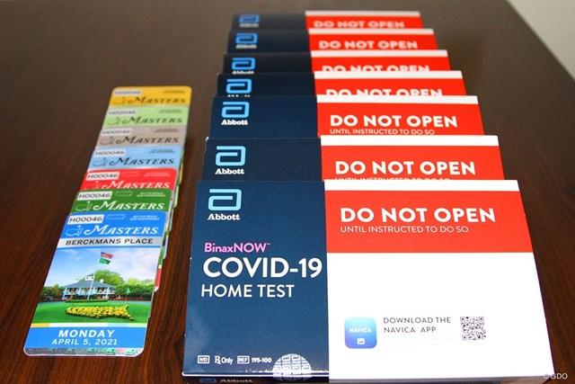2021年 マスターズ 事前 チケット 「マスターズ」の観戦バッジには新型コロナウイルスの検査キットが同封されていた