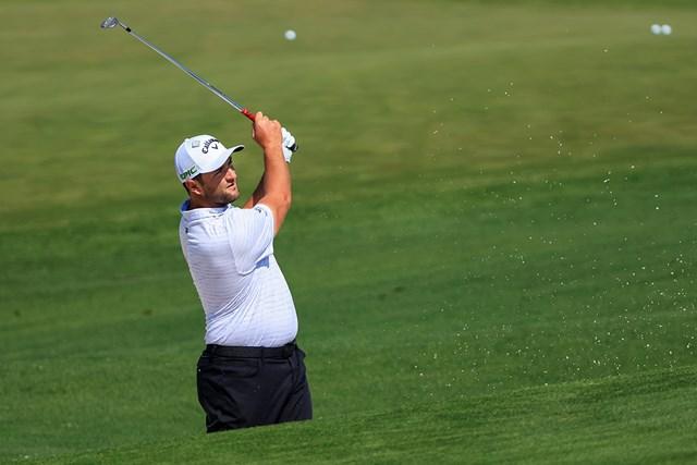 2021年 マスターズ 事前 ジョン・ラーム 開幕前日に練習ラウンドに臨むラーム(提供:Augusta National Golf Club)