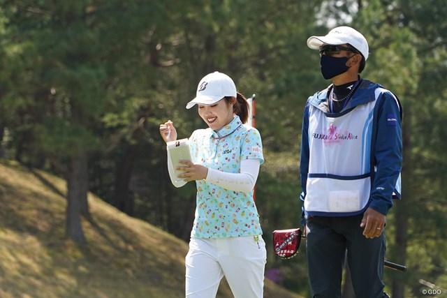 2021年 富士フイルム・スタジオアリス女子オープン 事前 古江彩佳 プロアマ戦で最終調整を行った古江彩佳