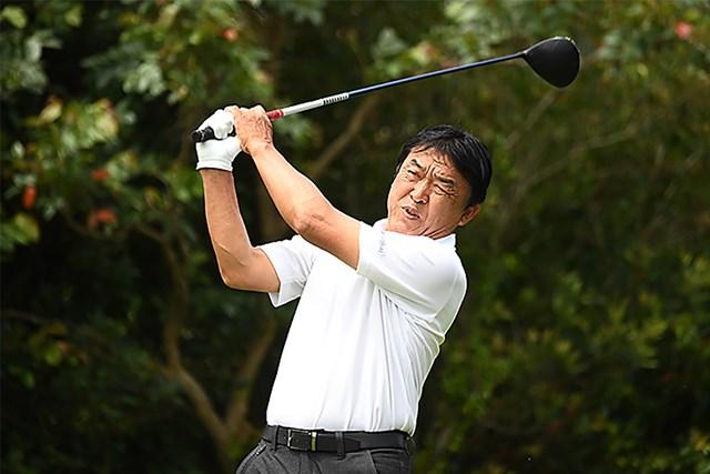 2021年 金秀シニア 沖縄オープンゴルフトーナメント  初日 羽川豊 羽川豊が開幕戦首位発進を決めた(提供:日本プロゴルフ協会)