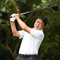 羽川豊が開幕戦首位発進を決めた(提供:日本プロゴルフ協会) 2021年 金秀シニア 沖縄オープンゴルフトーナメント  初日 羽川豊