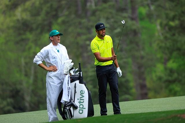 2021年 マスターズ 2日目 トニー・フィナウ トニー・フィナウがこの日ベストの「66」をマークして6位につけた(提供:Augusta National Golf Club)