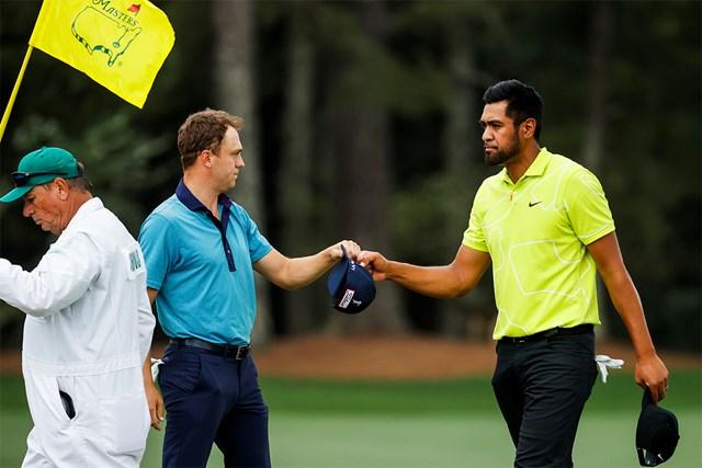 2021年 マスターズ 2日目 トニー・フィナウ ジャスティン・トーマス トーマスと同組でスコアを伸ばしたフィナウ(提供:Augusta National Golf Club)