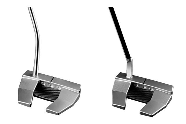 2021年 PHANTOM X パター X5(左)とX5.5(右) ミッドベンドの「X5」(左)とショートスラントネックの「X5.5」(右)