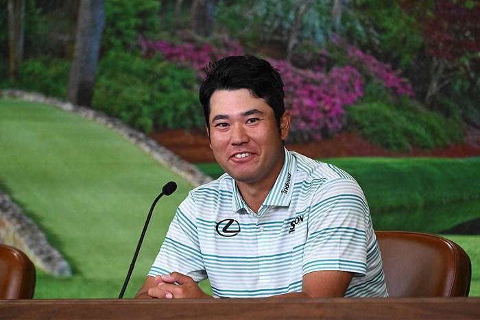 公式会見でインタビューに応える松山英樹( 提供:Augusta National Golf Club) 2021年 マスターズ 3日目 松山英樹