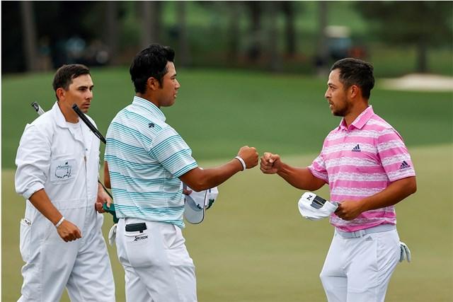 2021年 マスターズ 3日目 松山英樹 ザンダー・シャウフェレ 松山と同組で順位を上げたシャウフェレ。2人は最終組も同組に(提供:Augusta National Golf Club)