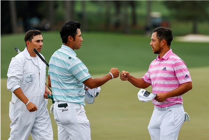 松山と同組で順位を上げたシャウフェレ。2人は最終組も同組に(提供:Augusta National Golf Club) 2021年 マスターズ 3日目 松山英樹 ザンダー・シャウフェレ