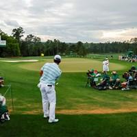 アドレナリンの出た最終18番も冷静に寄せてボギーフリーで終えた(提供:Augusta National Golf Club) 2021年 マスターズ 3日目 松山英樹