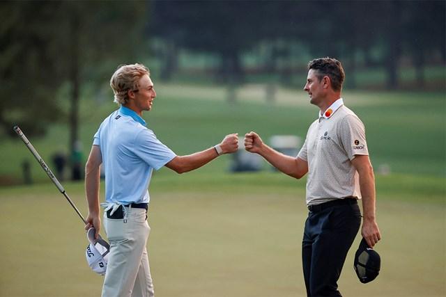 2021年 マスターズ 3日目 ジャスティン・ローズ ウィル・ザラトリス 3日目最終組でプレーしたローズとザラトリスはともに4打差2位で最終日へ(提供:Augusta National Golf Club)