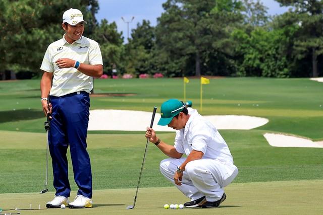 2021年 マスターズ 4日目 松山英樹 笑顔で最終ラウンドに備える松山英樹(提供:Augusta National Golf Club)