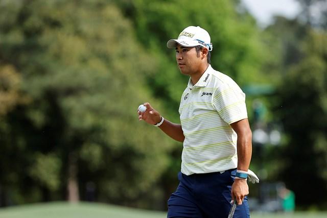 2021年 マスターズ 4日目 松山英樹 8番で2つ目のバーディを奪った(提供:Augusta National Golf Club)