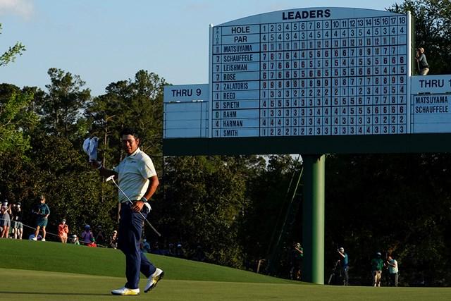 2021年 マスターズ 4日目 松山英樹 ヒデキコールに応える(提供:Augusta National Golf Club)