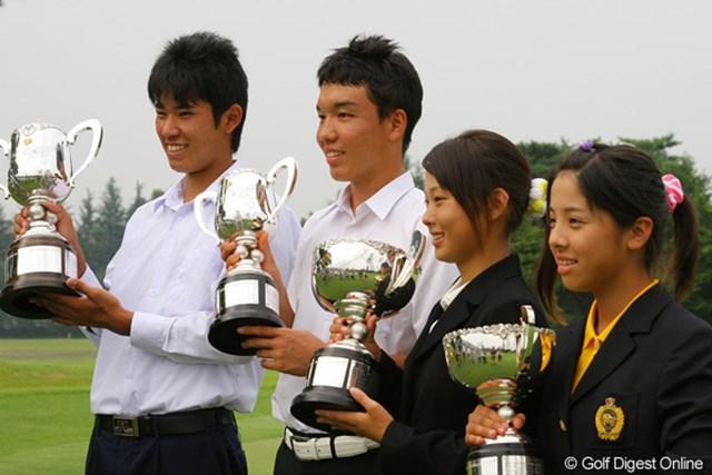 2009年 日本ジュニア 最終日 松山英樹ら優勝者 2009年「日本ジュニア」を制した松山英樹ら優勝者