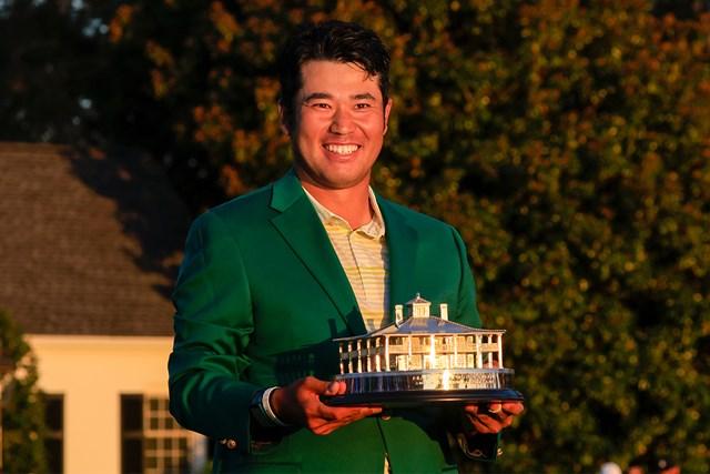 2021年 マスターズ 4日目 松山英樹 笑顔がはじけた(提供:Augusta National Golf Club)