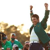 松山英樹の視線の先にはいつだって現実的な目標としての「メジャー制覇」があった(Mike Ehrmann/Getty Images) 2021年 マスターズ 4日目 松山英樹