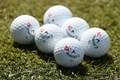 マスターズの練習日に見かけたジョン・ラームの使用ボール(Kevin C.Cox/Getty Images)