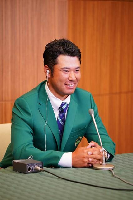 松山英樹 グリーンジャケットが誇らしい