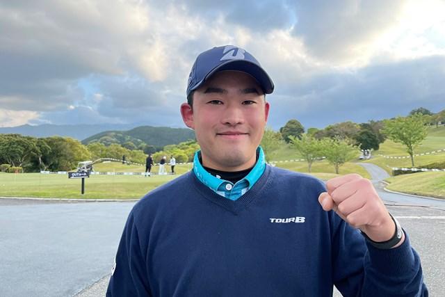 2021年 i Golf Shaper Challenge in 筑紫ヶ丘 初日 織田信亮 首位で発進した織田信亮(提供:大会事務局)
