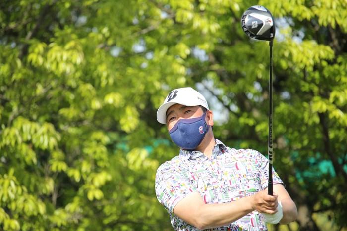 川満歩は2位とのリードを守れるか(提供:JGTO) 2021年 i Golf Shaper Challenge in 筑紫ヶ丘 初日 川満歩