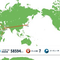 日本向けの世界地図で見ると本当に西の端 2021年 グラン・カナリアオープン 事前 川村昌弘マップ