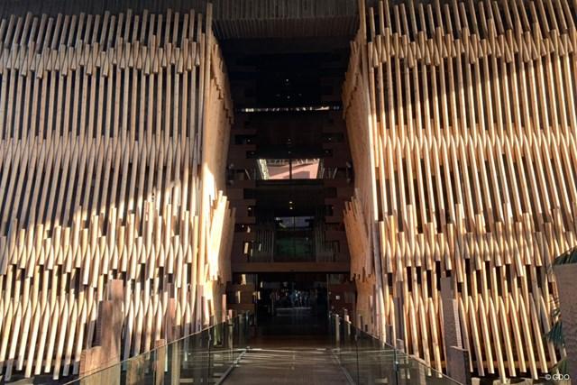 2021年 グラン・カナリアオープン 事前 グラン・カナリアのホテル ホテルの入り口はなんとも変わった作り