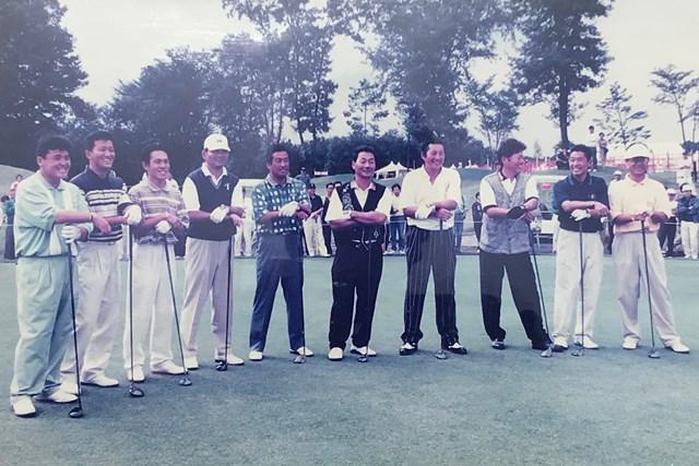 2021年 残したいゴルフ記録 ジーン・サラゼン ジュンクラシック 尾崎健夫(右から3番目)にとって忘れられない舞台となった。※写真は1997年/提供:ジュンクラシックCC