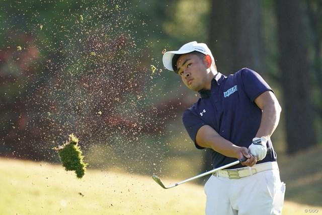 2021年 関西オープンゴルフ選手権競技 初日 山下勝将 レギュラーツアーデビュー初日を2アンダーで終えた山下勝将