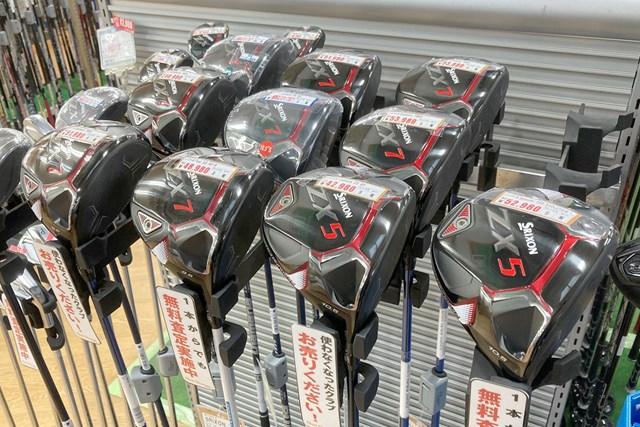 2021年 住友ゴム工業「スリクソン ZX5 ドライバー」 先週16日時点の売り場状況。「ZX5」は品薄が続いている。 ※提供:ゴルフガレージ港北ニュータウン店