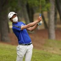 身長173cmで体重は65kg。あと10kg増やしたいという 2021年 関西オープンゴルフ選手権競技 2日目 石川航