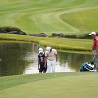 3番、池に~ 2021年 関西オープンゴルフ選手権競技 3日目 石坂友宏