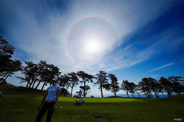 2021年 フジサンケイレディスクラシック 最終日 ユン・チェヨン Sea is beautiful