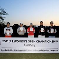 左から小暮千広、勝みなみ、三宅百佳、仲西菜摘、川満陽香理(提供:JGA) 2021年 全米女子オープン予選